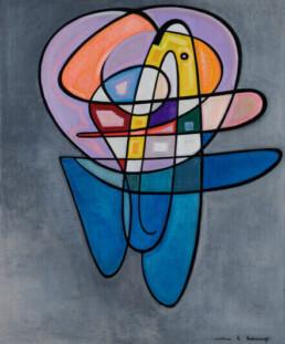 The World according to Garp. Oil on canvas 103cm x 123cm . 2021